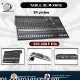 Table de mixage 24 pistes